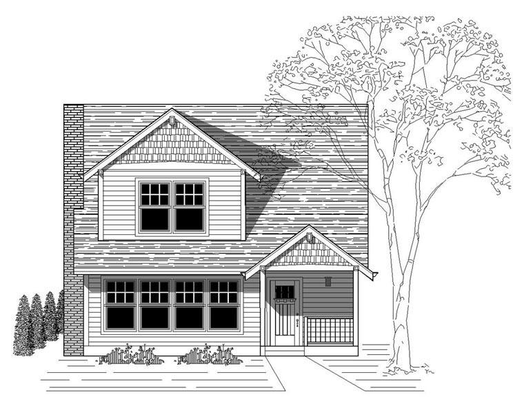 Bungalow Craftsman House Plan 76815 Elevation