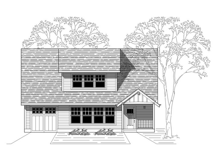 Bungalow Craftsman House Plan 76816 Elevation