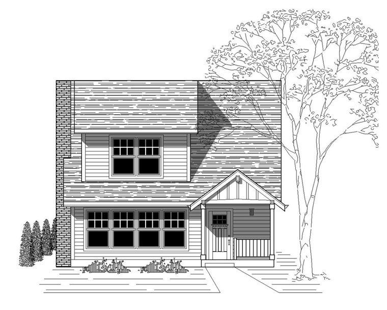 Bungalow Craftsman House Plan 76817 Elevation