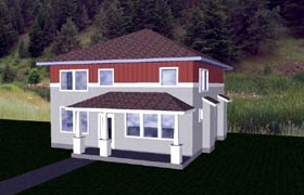 Craftsman European House Plan 76822 Elevation