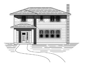 Craftsman Traditional House Plan 76824 Elevation