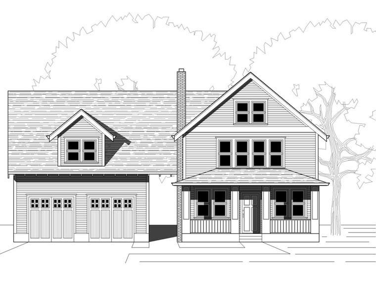 Bungalow Craftsman House Plan 76828 Elevation