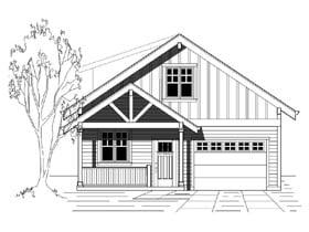 Bungalow Cottage Craftsman House Plan 76830 Elevation