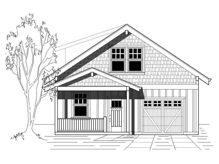 Bungalow Cottage Craftsman House Plan 76831 Elevation