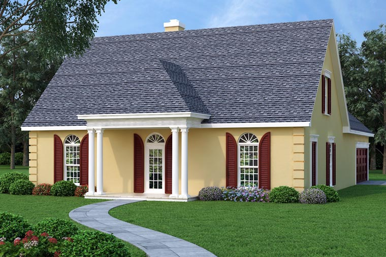 Traditional House Plan 76900 with 3 Beds, 2 Baths, 2 Car Garage Elevation
