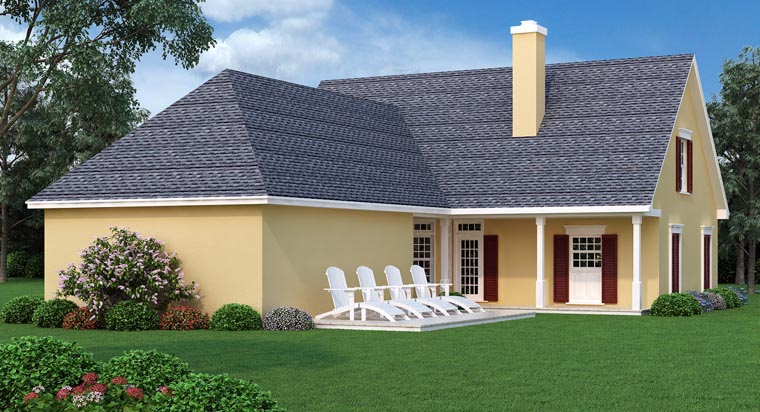 Traditional House Plan 76900 Rear Elevation
