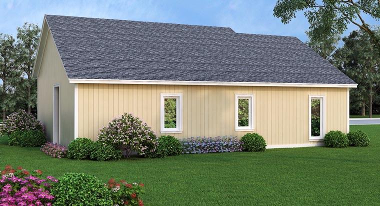 House Plan 76902 Rear Elevation