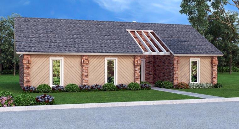 House Plan 76903 Elevation