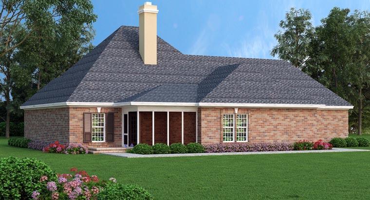 House Plan 76910 Rear Elevation