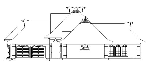 French Country House Plan 76911 with 3 Beds, 3 Baths, 2 Car Garage Picture 2