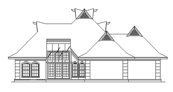 French Country House Plan 76911 Rear Elevation