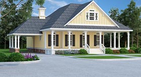 Country Farmhouse Traditional House Plan 76912 Elevation