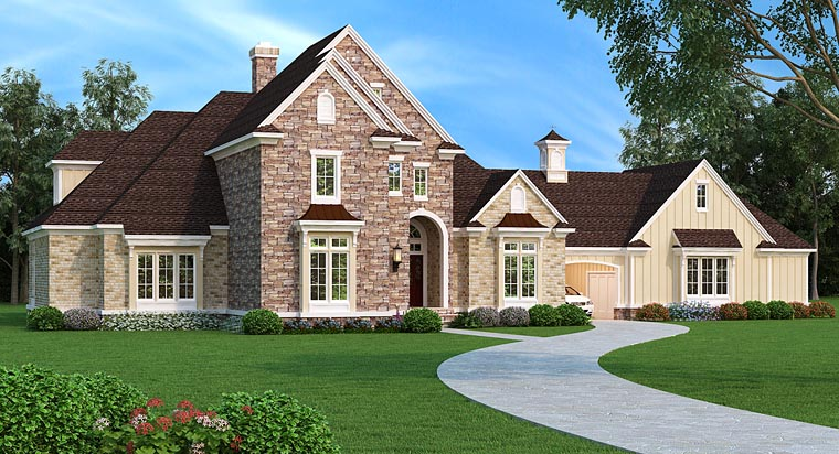 European, Traditional House Plan 76913 with 5 Beds, 5 Baths, 2 Car Garage Elevation