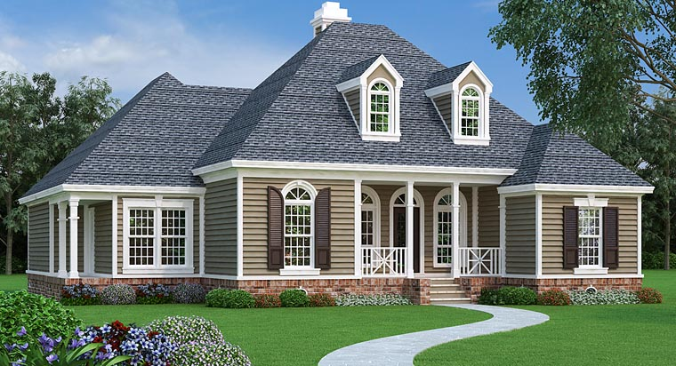 Country European French Country House Plan 76915 Elevation