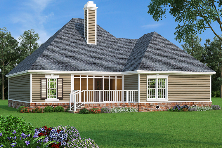 Country European French Country House Plan 76915 Rear Elevation