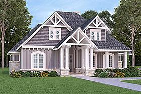 Craftsman , Traditional , Tudor House Plan 76916 with 3 Beds, 2 Baths, 3 Car Garage Elevation