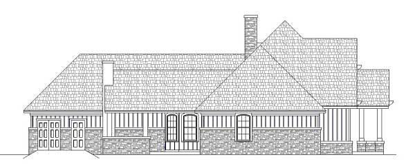 Craftsman, Traditional, Tudor House Plan 76916 with 3 Beds, 2 Baths, 3 Car Garage Picture 2