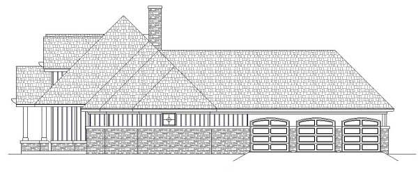 Craftsman, Traditional, Tudor House Plan 76916 with 3 Beds, 2 Baths, 3 Car Garage Picture 3