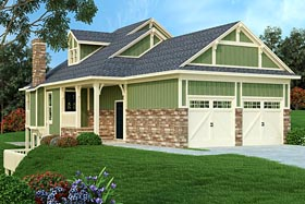 Cottage Country Traditional House Plan 76918 Elevation