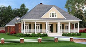 House Plan 76920   Country French Country Southern Style Plan with 2248 Sq Ft, 3 Bedrooms, 3 Bathrooms, 3 Car Garage Elevation