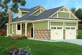 Bungalow Cottage Country Craftsman House Plan 76922 Elevation