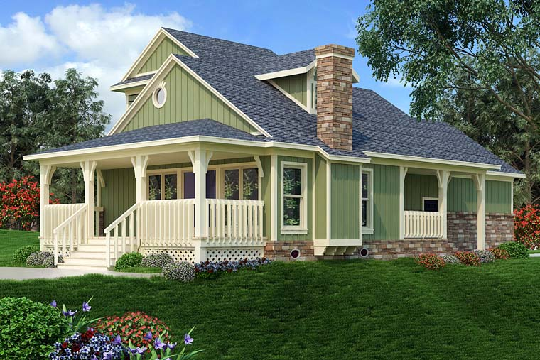Bungalow Cottage Country Craftsman House Plan 76922 Rear Elevation