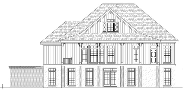 Colonial Country Southern House Plan 76925