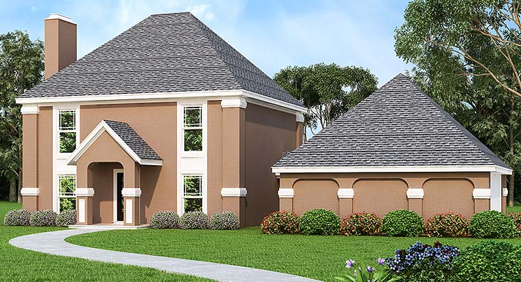 Colonial Southern House Plan 76926 Elevation