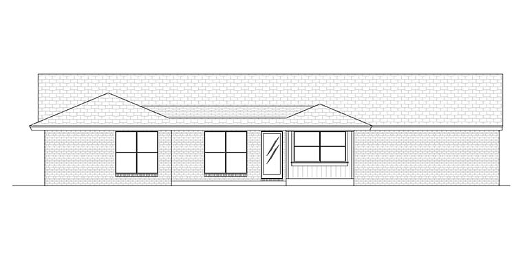 Contemporary Ranch House Plan 76928 Rear Elevation