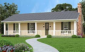 Ranch Traditional House Plan 76930 Elevation