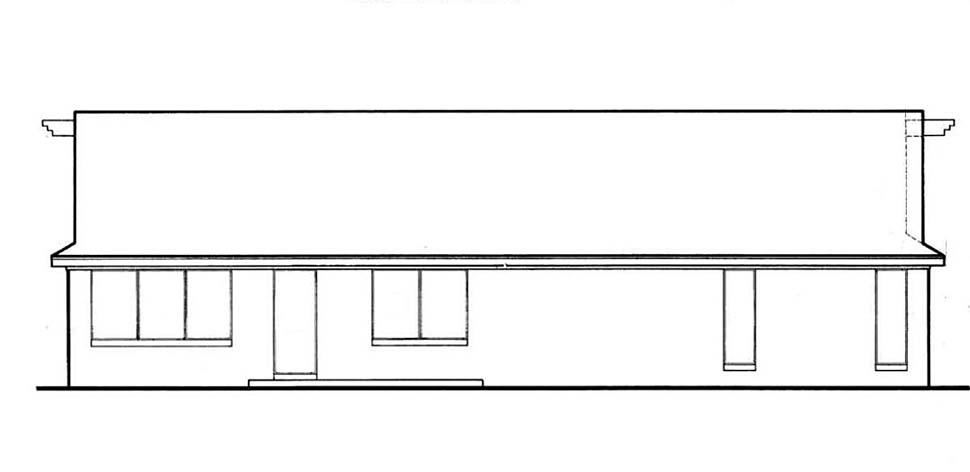 Ranch House Plan 76931 Rear Elevation