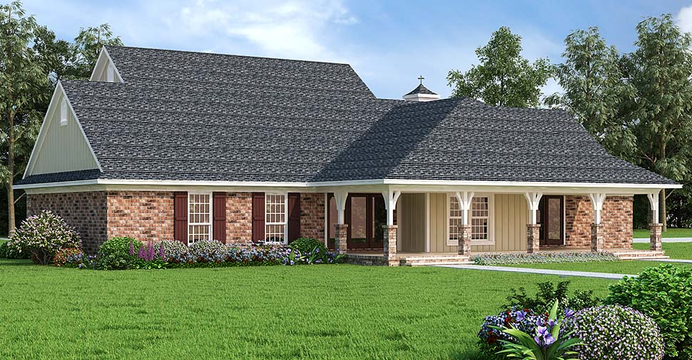 Country House Plan 76933 Rear Elevation
