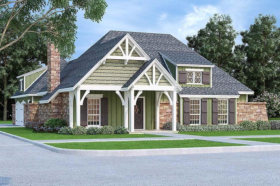 Craftsman House Plan 76934 with 3 Beds, 2 Baths, 2 Car Garage Elevation