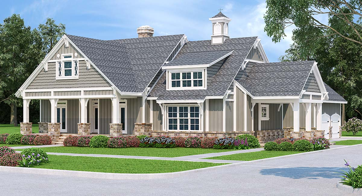 Craftsman Elevation of Plan 76935