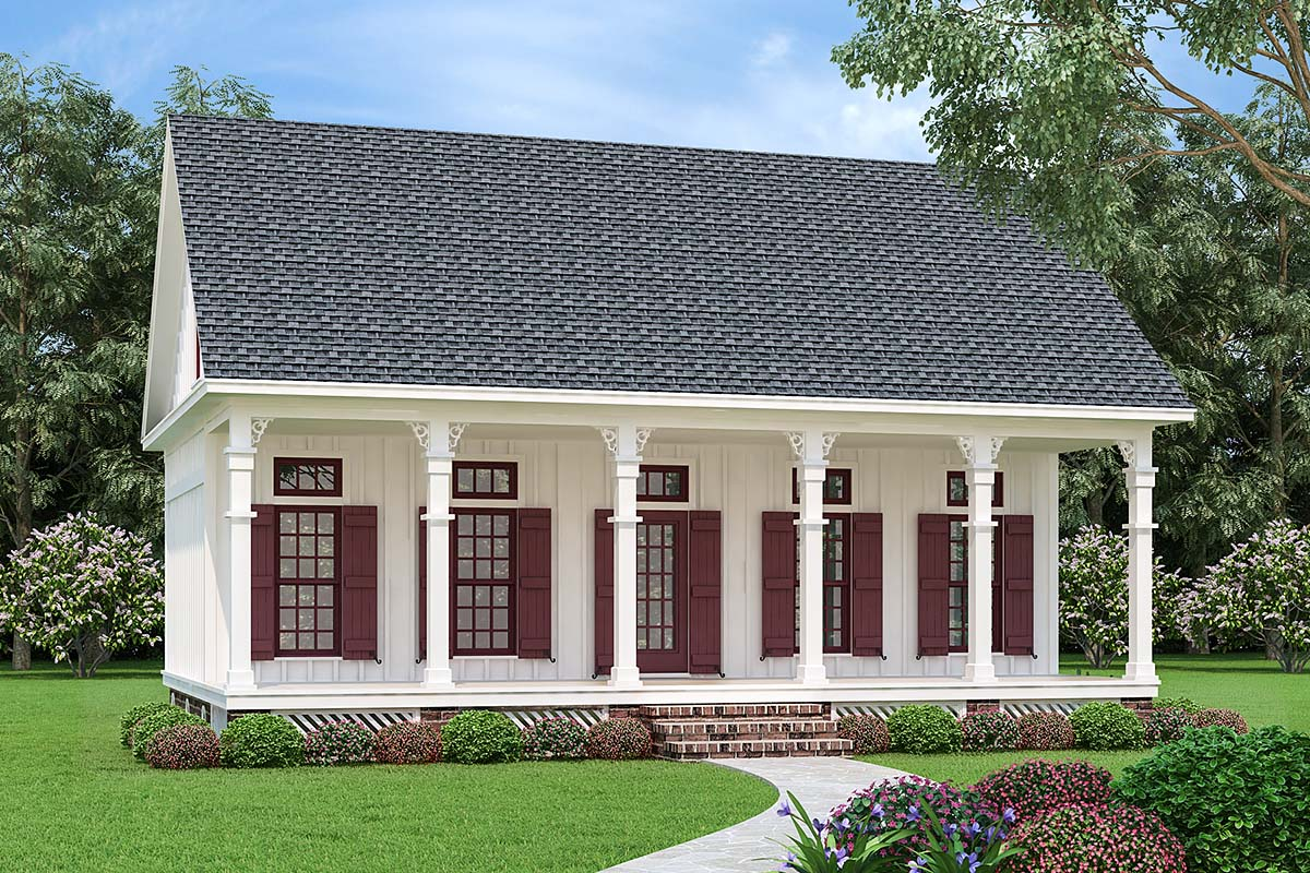 Cottage, Southern House Plan 76936 with 3 Beds, 3 Baths Elevation