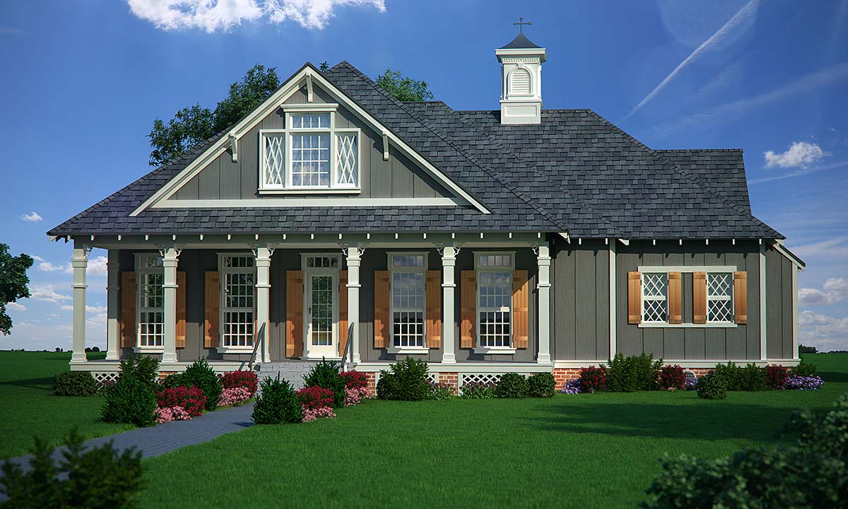 Cottage, Traditional House Plan 76939 with 3 Beds , 2 Baths Elevation