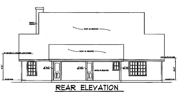 Country House Plan 77004 Rear Elevation