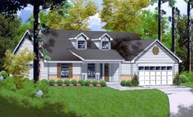 Ranch Traditional House Plan 77015 Elevation