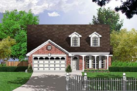Cape Cod Colonial House Plan 77017 Elevation