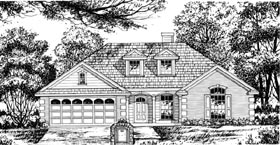 Plan Number 77020 - 1495 Square Feet