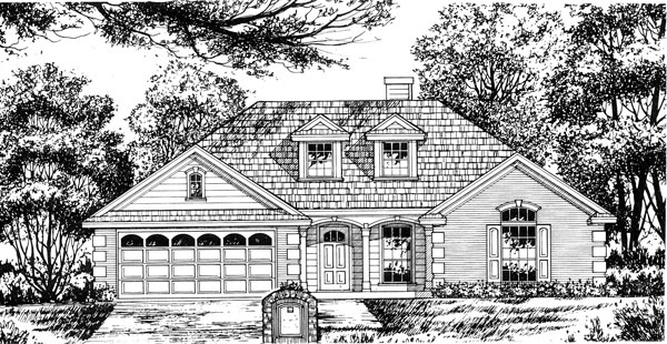 Traditional House Plan 77020 Elevation
