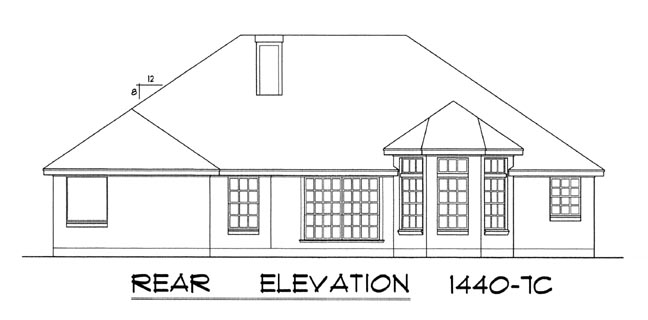 Traditional House Plan 77020 Rear Elevation