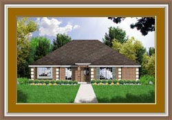 Traditional , European House Plan 77022 with 3 Beds, 2 Baths, 2 Car Garage Elevation