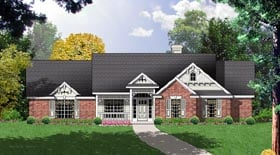 Traditional House Plan 77023 Elevation