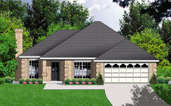 Traditional House Plan 77025 Elevation