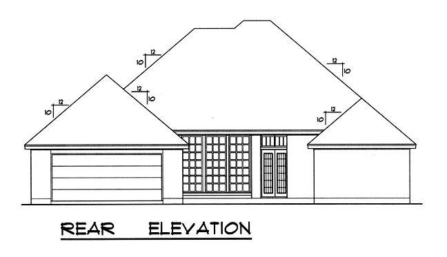 European House Plan 77026 Rear Elevation