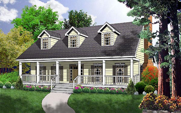 Country House Plan 77027 Elevation