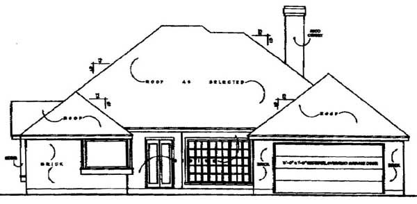 European House Plan 77030 Rear Elevation