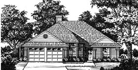 Traditional House Plan 77035 Elevation