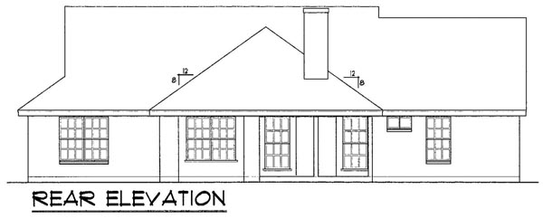 Colonial Traditional House Plan 77041 Rear Elevation